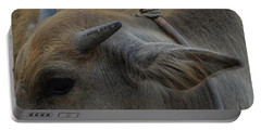 Portable Battery Charger featuring the photograph  Young Buffalo by Michelle Meenawong