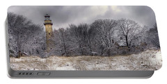 0243 Grosse Point Lighthouse Evanston Illinois Portable Battery Charger