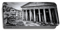 0786 The Pantheon Black And White Portable Battery Charger