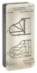 1878 Steinway Grand Piano Forte Patent Art S. 1 Portable Battery Charger by Gary Bodnar