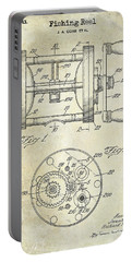 1943 Fishing Reel Patent Drawing Portable Battery Charger