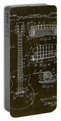 1955 Gibson Les Paul Patent Drawing Portable Battery Charger by Gary Bodnar
