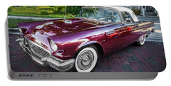 1957 Ford Thunderbird Convertible Painted    Portable Battery Charger