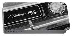 1970 Dodge Challenger Rt Convertible Grille Emblem Portable Battery Charger