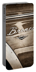 1972 Ford Bronco Emblem Portable Battery Charger