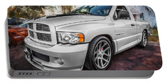 2004 Dodge Ram Srt 10 Viper Truck Painted Portable Battery Charger