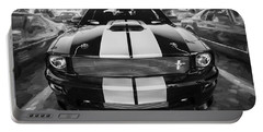 2007 Ford Mustang Shelby Gt Painted Bw   Portable Battery Charger