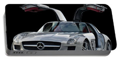 2010 Mercedes Benz Sls Gull-wing Portable Battery Charger by Jack Pumphrey