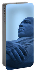 Portable Battery Charger featuring the photograph A Blue Martin Luther King - 1 by Cora Wandel