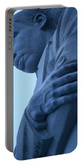 Portable Battery Charger featuring the photograph A Blue Martin Luther King - 2 by Cora Wandel