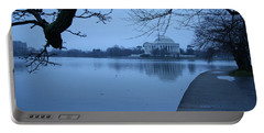 Portable Battery Charger featuring the photograph A Blue Morning For Jefferson by Cora Wandel
