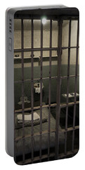 A Cell In Alcatraz Prison Portable Battery Charger by RicardMN Photography