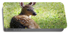 A Fawn On The Lawn Portable Battery Charger