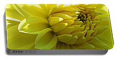 Portable Battery Charger featuring the photograph Golden Dahlia by Dora Sofia Caputo Photographic Art and Design