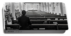 Praying In Church Portable Battery Charger
