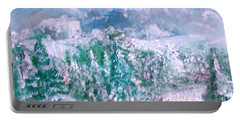 Portable Battery Charger featuring the painting A Natural Christmas by Laurie L