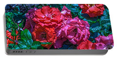 A Rose Is A Rose Portable Battery Charger by Richard J Cassato