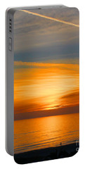 A Walk At Sunset Portable Battery Charger by Mariarosa Rockefeller