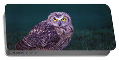 A Young Burrowing Owl Athene Portable Battery Charger