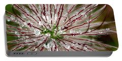 Abstract Macro Flower Head Portable Battery Charger