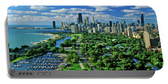 Aerial View Of Chicago, Illinois Portable Battery Charger