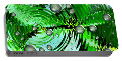 Amazing. Abstract Art. Green Grey  Blue Yellow  Portable Battery Charger