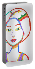 Portable Battery Charger featuring the painting Anime Asian Girl by Stormm Bradshaw