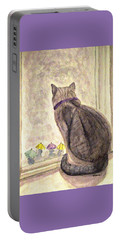 April Showers Portable Battery Charger by Angela Davies