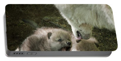 Arctic Wolf Pups Portable Battery Charger