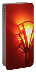 Portable Battery Charger featuring the photograph Art Deco Theater Light by David Lee Guss