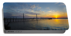 Portable Battery Charger featuring the photograph Sunset Over The Charleston Waters by Dale Powell