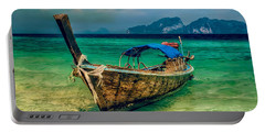 Asian Longboat Portable Battery Charger by Adrian Evans