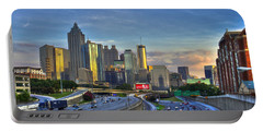 Atlanta Sunset Reflections Portable Battery Charger by Reid Callaway