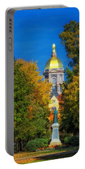 Autumn On The Campus Of Notre Dame Portable Battery Charger