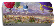 Portable Battery Charger featuring the painting Balloons by Jamie Frier