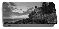 Bass Harbor Head Light Sunset  Portable Battery Charger by Michael Ver Sprill