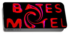 Portable Battery Charger featuring the photograph Bates Motel In Blood And Twisted by Kelly Awad