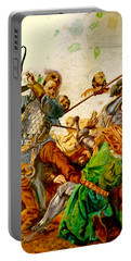 Battle Of Grunwald Portable Battery Charger by Henryk Gorecki
