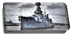 Battleship Texas Portable Battery Charger by Savannah Gibbs
