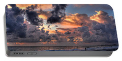 Beach Walk - Florida Seascape Portable Battery Charger by HH Photography of Florida