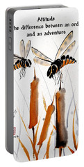 Portable Battery Charger featuring the painting Beeing Present by Bill Searle