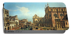 Bellotto's The Campo Di Ss. Giovanni E Paolo In Venice Portable Battery Charger by Cora Wandel