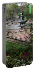 Bethesda Fountain - Central Park Nyc Portable Battery Charger