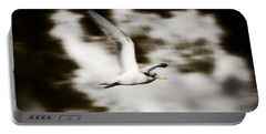 Bird Flying In The Clouds Portable Battery Charger