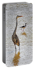 Blue Heron And Stilt Portable Battery Charger