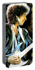 Bob Dylan Artwork 2 Portable Battery Charger by Sheraz A