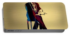 Bob Dylan Gold Series Portable Battery Charger by Marvin Blaine