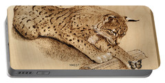 Bobcat And Friend Portable Battery Charger