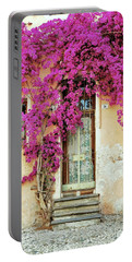 Bougainvillea Doorway Portable Battery Charger by Allen Beatty