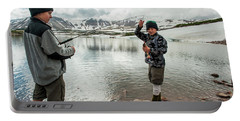 Boys Fish In Superior Lake During A Six Portable Battery Charger
